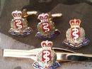 Royal Army Medical Corps RAMC Gift Set, Cufflinks, Tie Clip, Lapel Badge